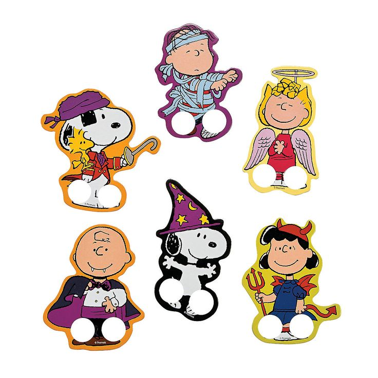 peanuts halloween finger puppets - Charlie Brown Halloween Cartoon