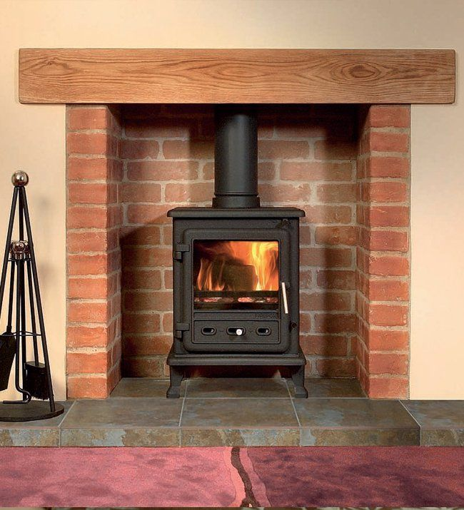 Firefox 5 Multi Fuel Stove plus pipe, reg plate, CO2 detector £391.31