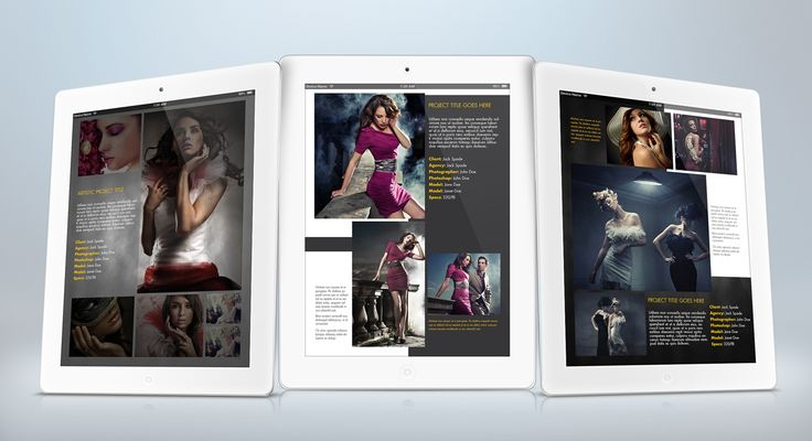 iPad Portfolio Template for Indesign CS4 or Later
