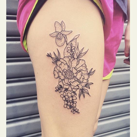 25 best ideas about bouquet tattoo on pinterest flower for Birth flower october tattoo