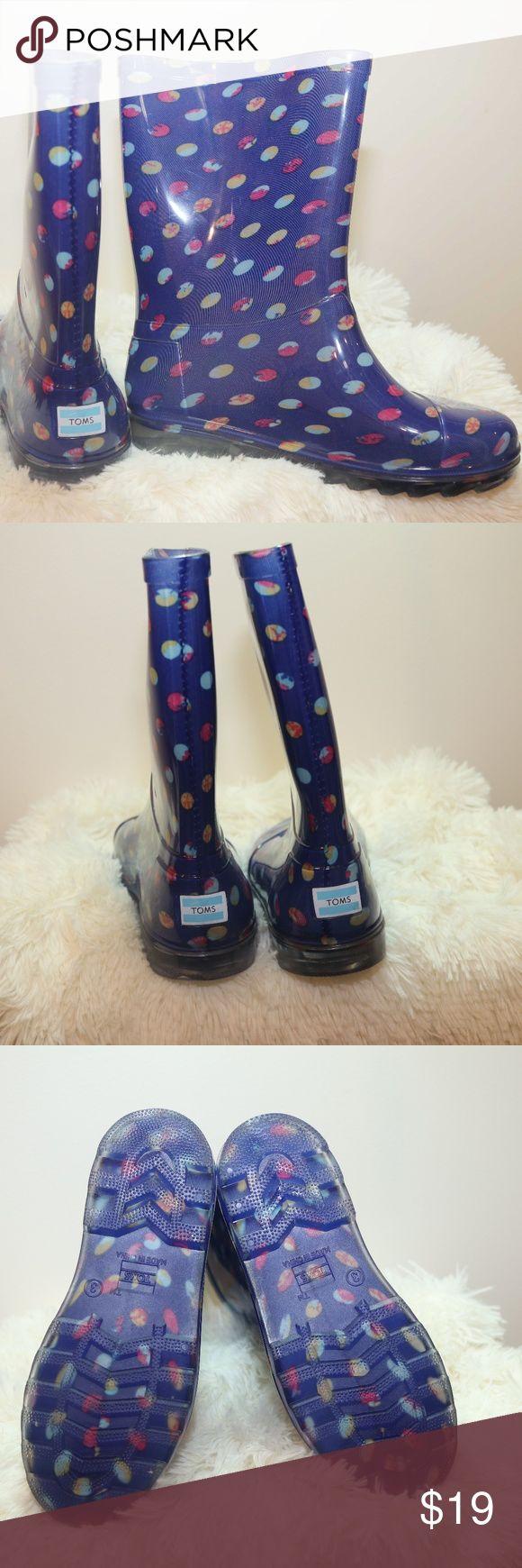 Tom's Rain Kids Rain boot Sz Y3 Beautiful Tom's Kids Rain boot Sz Y3 Price reflects one missing foot insert toms Shoes Rain & Snow Boots