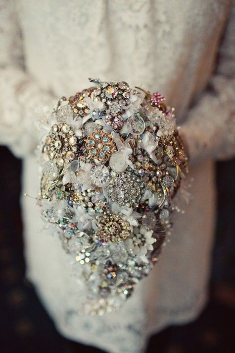 This bouquet is perfect for the antique jewelry lover.