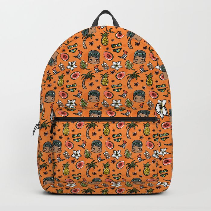 Buy Hawaiian Dreaming - Orange Backpack by teacupsandspectacles. Worldwide shipping available at Society6.com. Just one of millions of high quality products available.