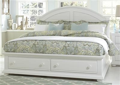 shop for liberty furniture king storage bed and other bedroom sets at gibson furniture in andrews nc cottage design is always in fashion - Louvered Bedroom Decor