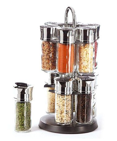 aq revolving slim spice rack set