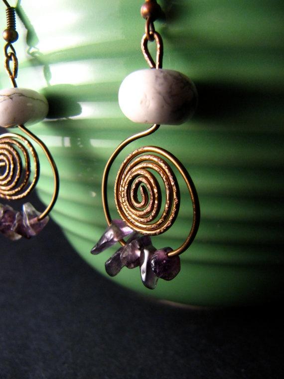 rolling wave earrings on Etsy!      #etsy #handmade #earrings