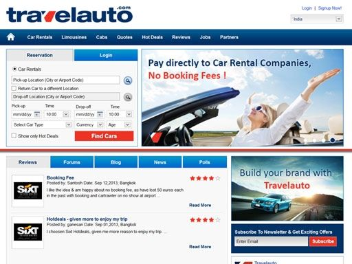 Car rentals from Travelauto !!