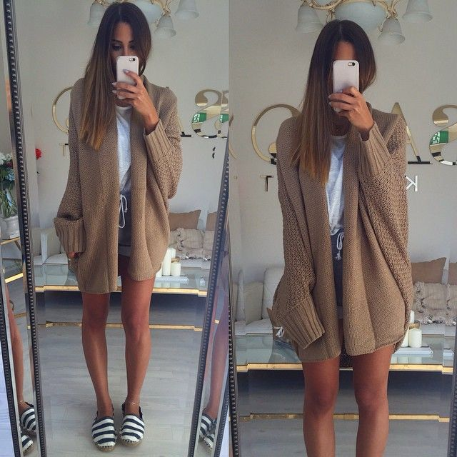 Jumbo Chestnut Cardi... We like you  Get yours now at #saboskirt.com
