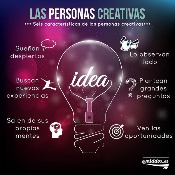 #Infografías Características de las personas creativas. #Publicidad #Creatividad