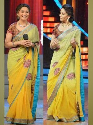Madhuri yellow saree with tushar saree Check our New Bollywood collection, http://20offers.com/madhuri-yellow-saree-with-tushar-saree.html?search=madhuri#.Uz0BJ6iSzxA , Available for shipping worldwide,  Buy Bollywood Sarees at lowest price in USA, CANADA, AUSTRALIA, NEW ZEALAND, SINGAPORE, MALYASIA ,UK, NETHERLANDS, FRANCE, JERMANY - Indian Clothing Online!