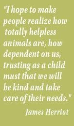 Animal welfare quote from a British man