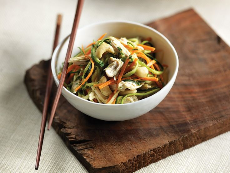 Sub zucchini and carrots for noodles to make this low-carb dinner under 200 calories from @cleaneatingmag #vegetarian #gluten-free