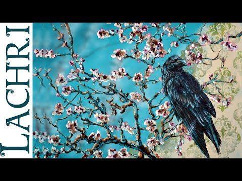 acrylic painting demo van gogh almond branch raven w lachri youtube - Van Gogh Lebenslauf