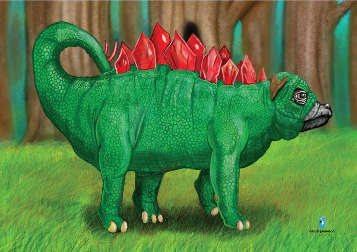 Digital painting: Pugasaurus