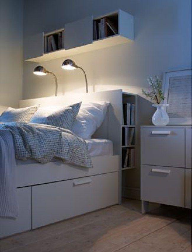 Ikea jugendbett mit schubladen  Die besten 25+ Brimnes bett Ideen auf Pinterest | Bett mit ...