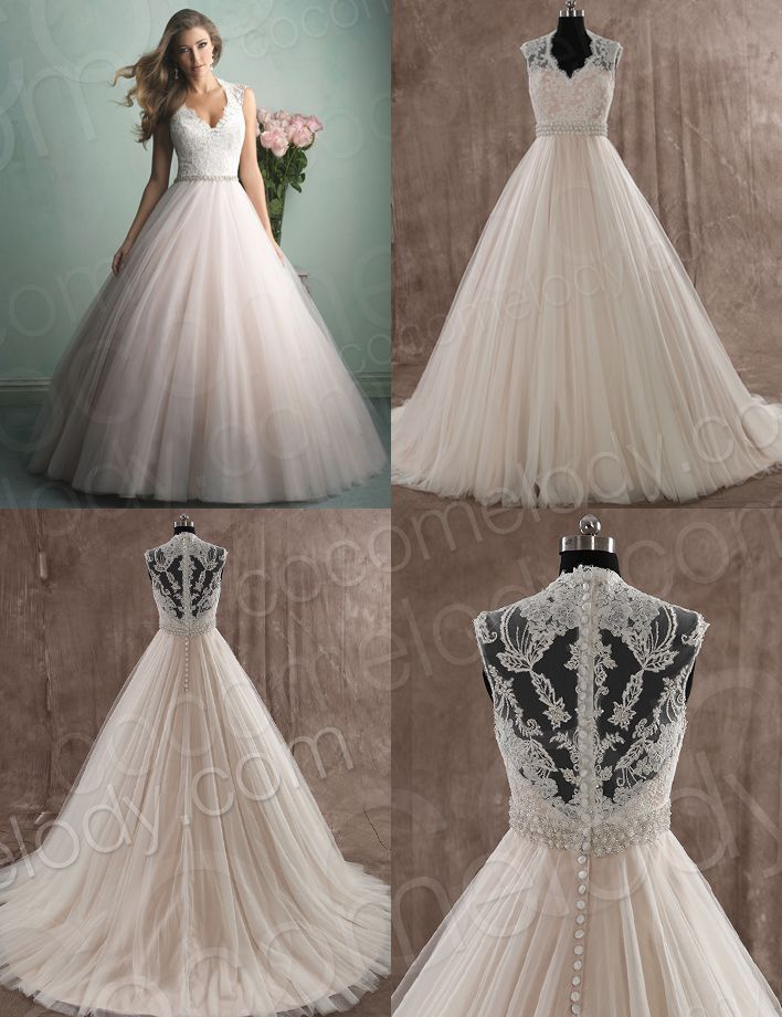 Perfect #Wedding dress! Love the Embroidery of the dress, love the beading belt!! Click to see more details