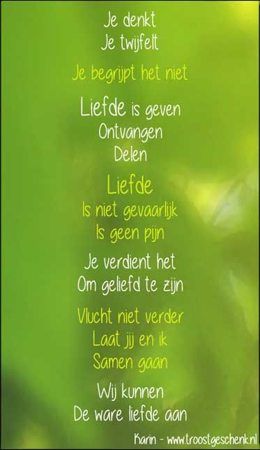 Ik schrijf ook over de liefde ;)  www.troostgeschenk.nl