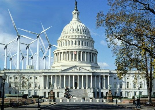White House with Turbines - pass the tax credit!