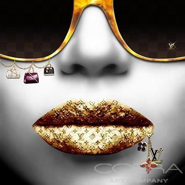 LV GOLD/SILVER Fashion and faces photography Cobra Art Company Photographic art on plexiglas