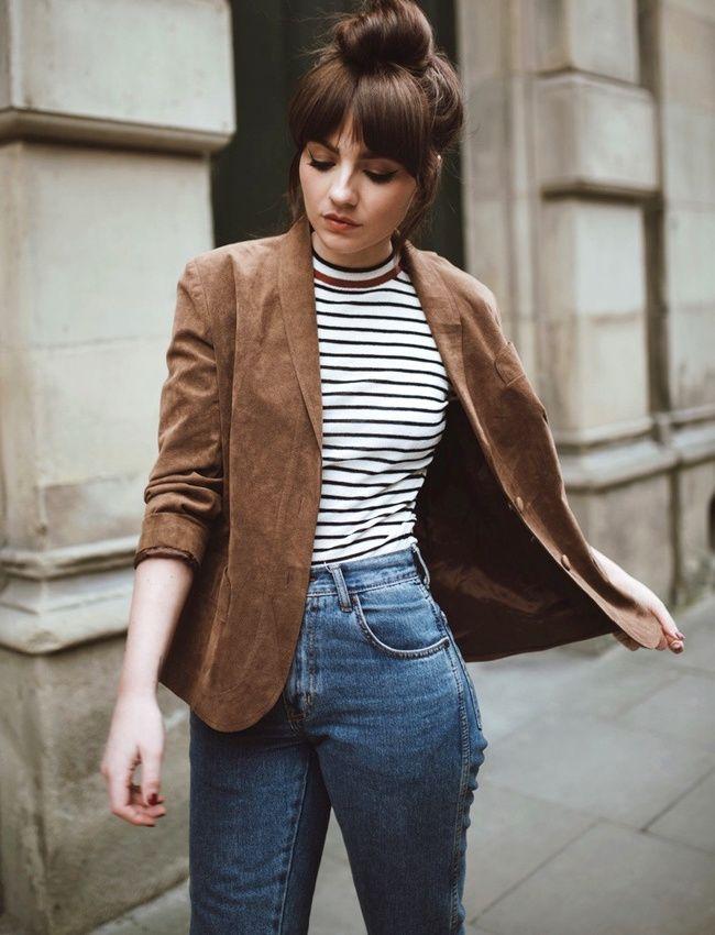 Ne jamais hésiter à troquer son perfecto contre un blazer en daim ! (photo Alice Catherine)