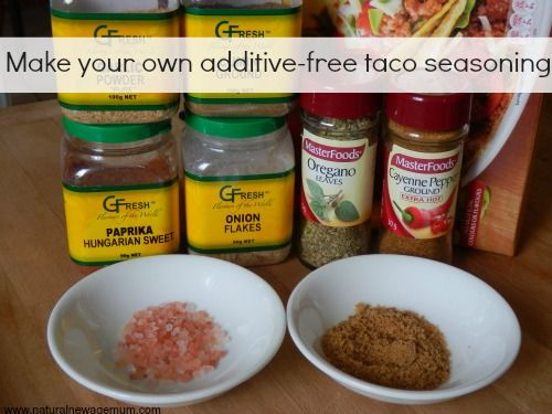 Make your own additive free taco seasoning !!
