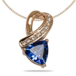 197 best tanzanite pendant images on pinterest tanzanite pendant 50ct trillion tanzanite pendants with 007ctw diamonds in 14k yellow gold aloadofball Images