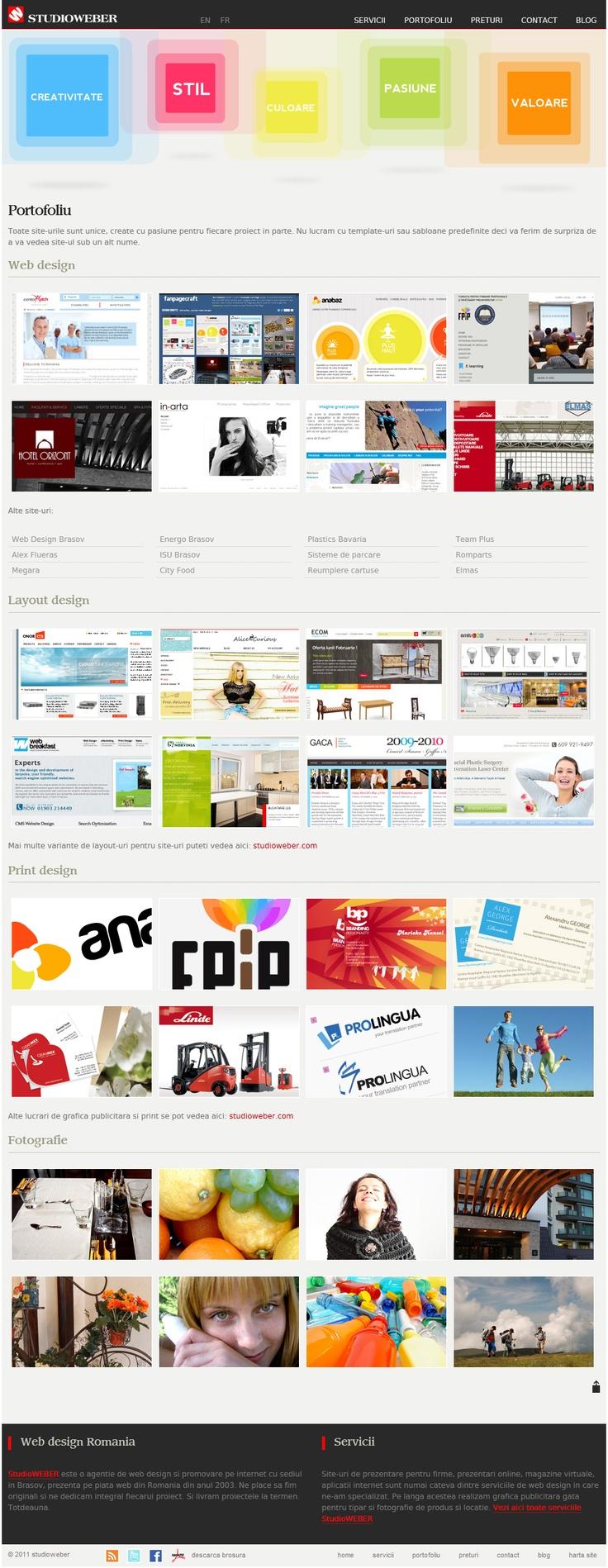 Web design and development - Content page - http://www.studioweber.ro