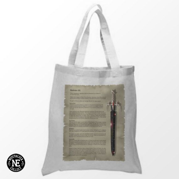 Black Sword Tote Bag  Night Sword  Soul Sword  by Nostalgia Collect