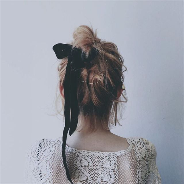 Just Add Ribbons! Cute and Easy Hairstyles with Ribbons | Ribbon hairstyle, Short hair styles ...