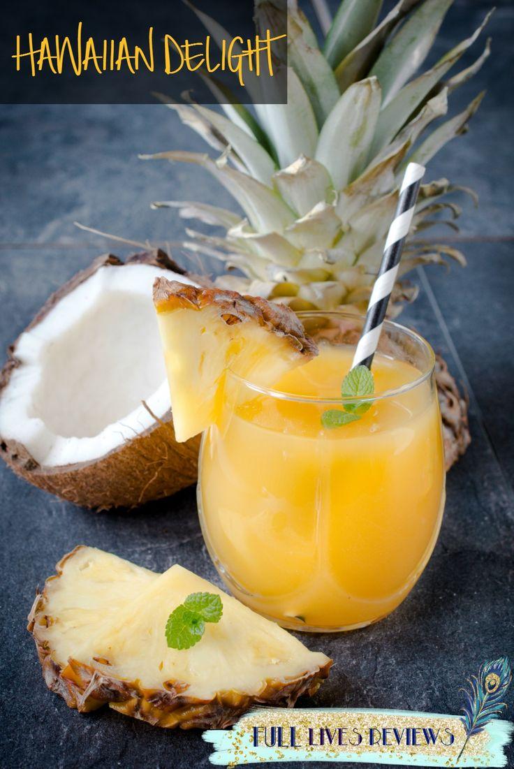 Hawaiian Delight. Tropical Boozy Friday cocktail.
