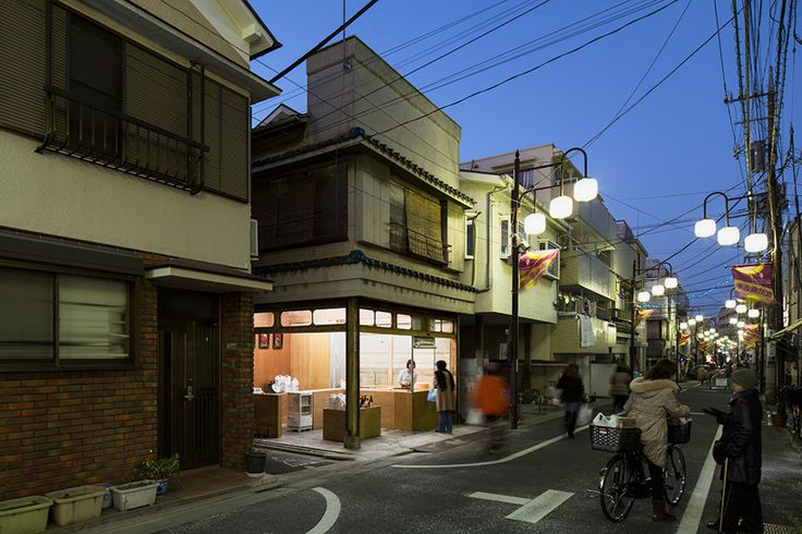 schemata architects has transformed an existing building into a small rice store, intended to stimulate activity along a once prosperous shopping street.
