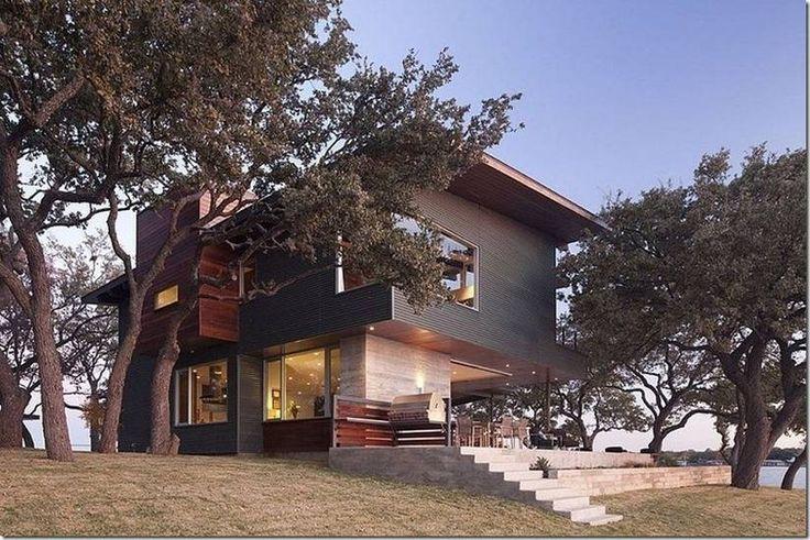 Современный дизайн дома Lake LBJ Retreat с изысканными видами