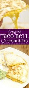 Copycat Taco Bell Quesadillas. I love their quesadillas!!!