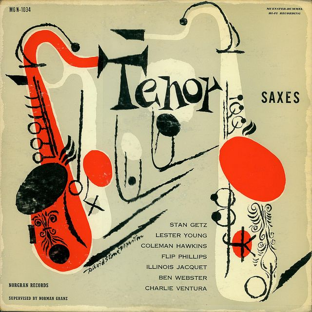 Tenor Saxes    Art by David Stone Martin