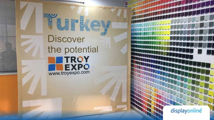 Troy Expo  Troy Expo fuar hizmetleri için ışıksız uv kumaş baskı ile ör…