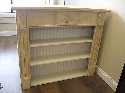 Primitive Antique Repurposed Fireplace Mantel Shelf Bookcase | eBay