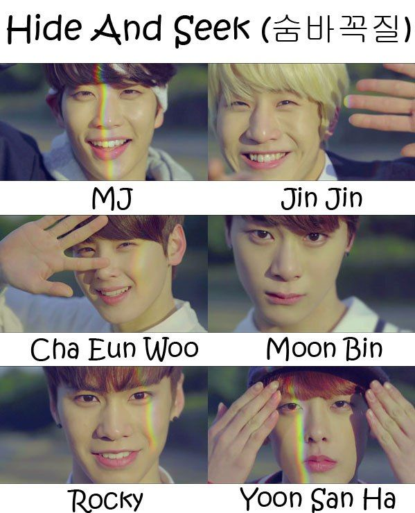 """The members of Astro in the """"Hide And Seek"""" MV"""
