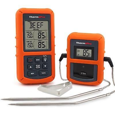 Digital Cooking Thermometer Food Meat Wireless Remote Grill Oven BBQ Dual Probe