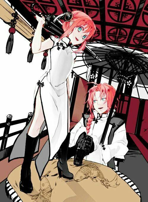 Kagura and Kamui | Gintama