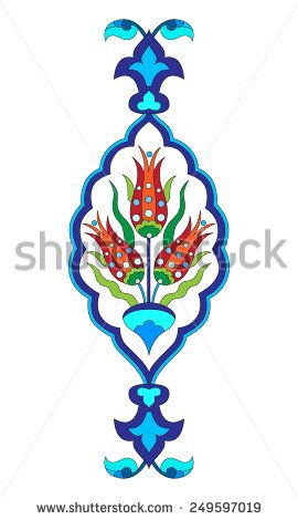 Flower designs inspired by the Ottoman decorative arts