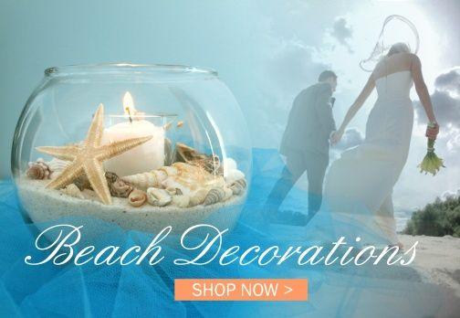 Beach Wedding Decorations   Beach Table Decorations   Beach Centerpiece Ideas   Beach DIY Wedding Crafts   www.yourweddingcompany.com