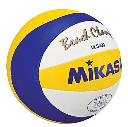 Mikasa Beach Champ Official FIVB Game Ball by Mikasa. $54.25. Official 2010 FIVB Game Ball. Newley developed soft composite cover. Improved control when passing and hitting. Double cloth backing for best shape retention. Curved 10 panel design for easy recognition. Improved water resistance. You can now see this ball on beaches throughout the world.