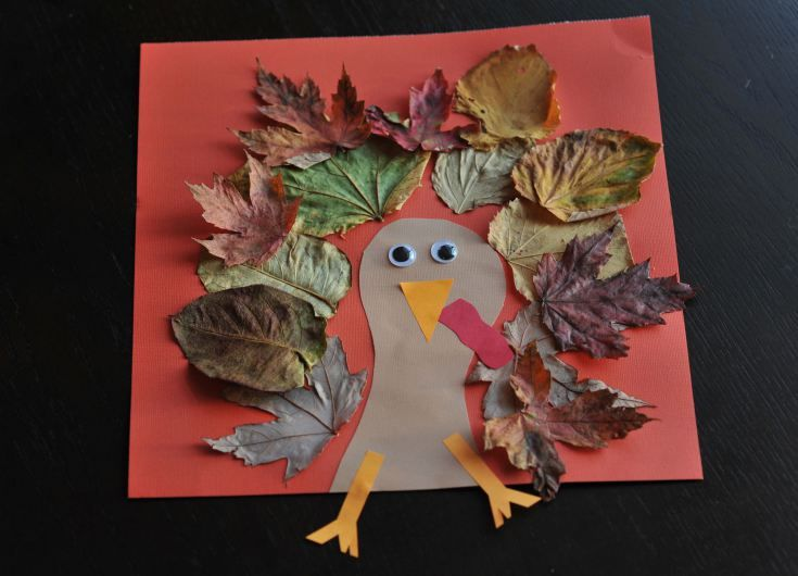#Turkey #craft with leaves