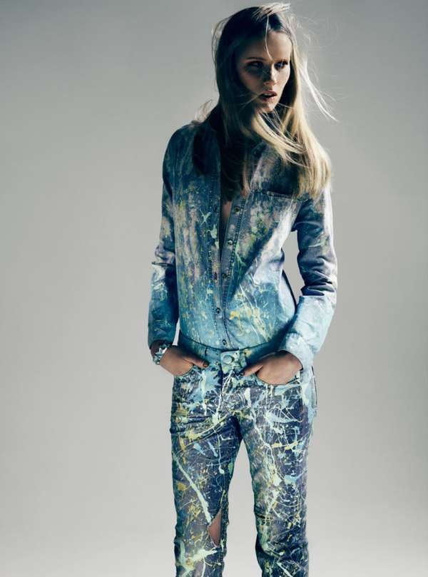 decorated denim editorials - the never look back rodeo magazine shoot is urban and edgy