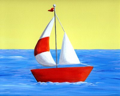 Lil Sailboat Painting At Artistrising Com Sailboat