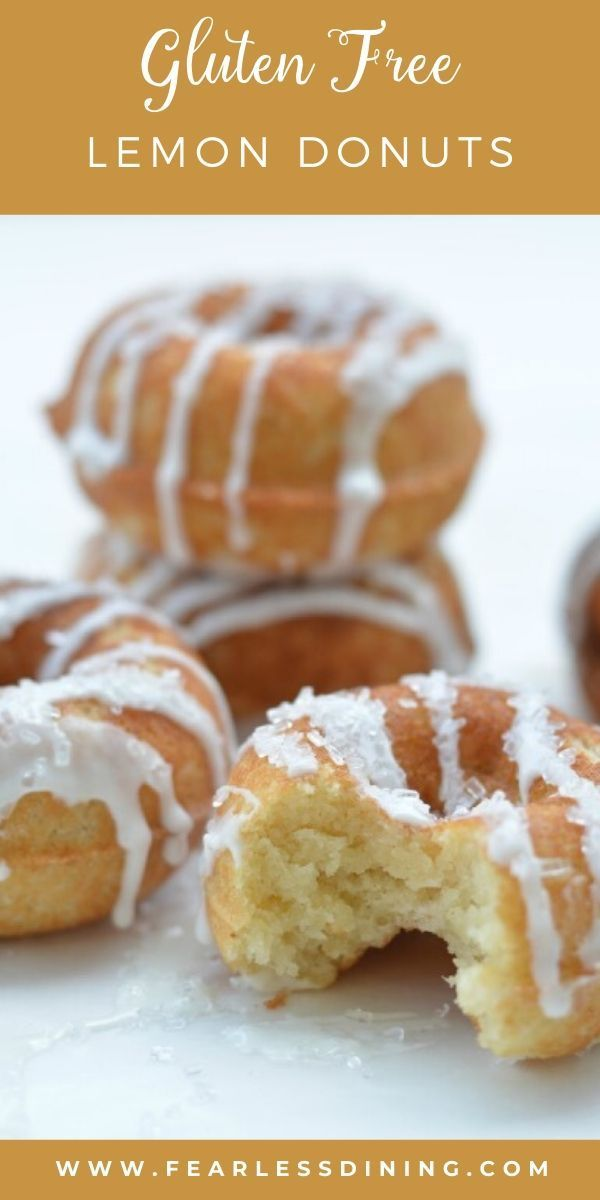 Grab A Baked Gluten Free Lemon Donut And Take A Bite They Are