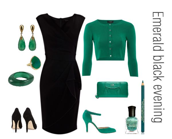 take the little black dress amp accent it with emerald