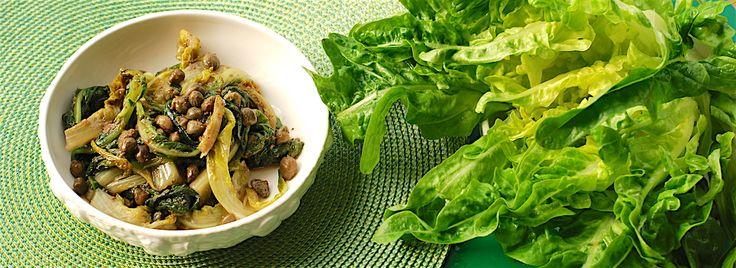 """Lattuga """"barba dei frati"""" in crema di olive bio, Contorni biologici, Ricette"""