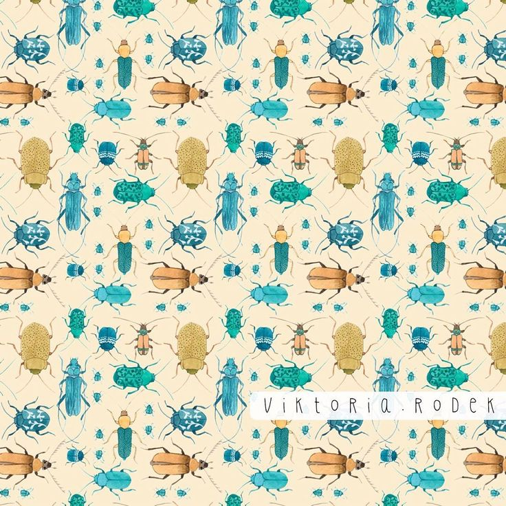 bugs in repeat :)  https://www.spoonflower.com/designs/6447163-beetles-by-viktoria_rodek