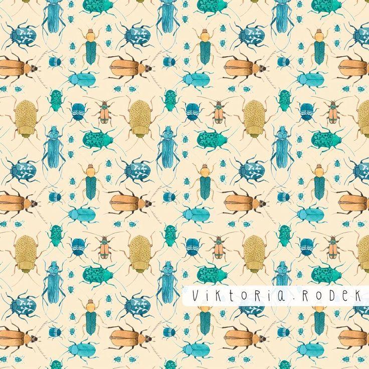 bugs in repeat :)  https://www.spoonflower.com/designs/6447163-beetles-by-viktoria_rodek